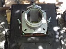 основа на пелетна горелка - направена врата