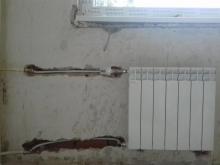 прокарване на тръби за радиатор